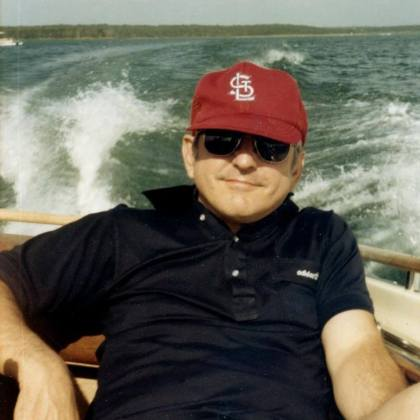 He loved the lake, and he loved the Cardinals. And he loved me so well.