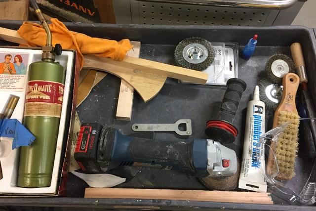 Tools on a cart