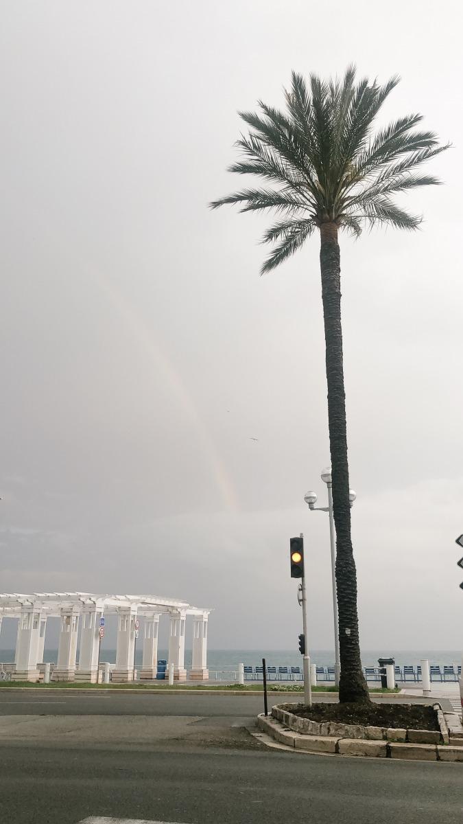 Rainbow in Nice, France