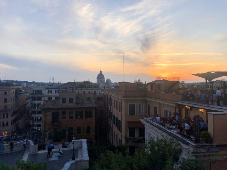 Travel Diary | Sunset at The Spanish Steps in Rome, Italy