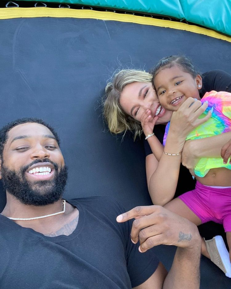 Khloe and Tristan Take Daughter True to Nights of the Jack