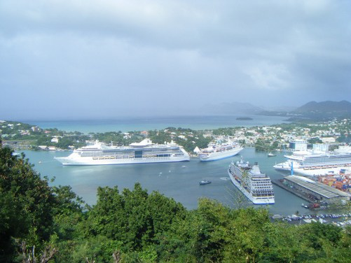 Castries Harbor from Morne Fortune, St Lucia Image Credit:D G Brown