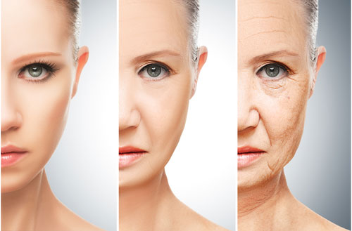 skin aging causes and cure