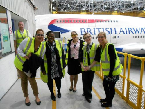 Cabin crew training British Airways