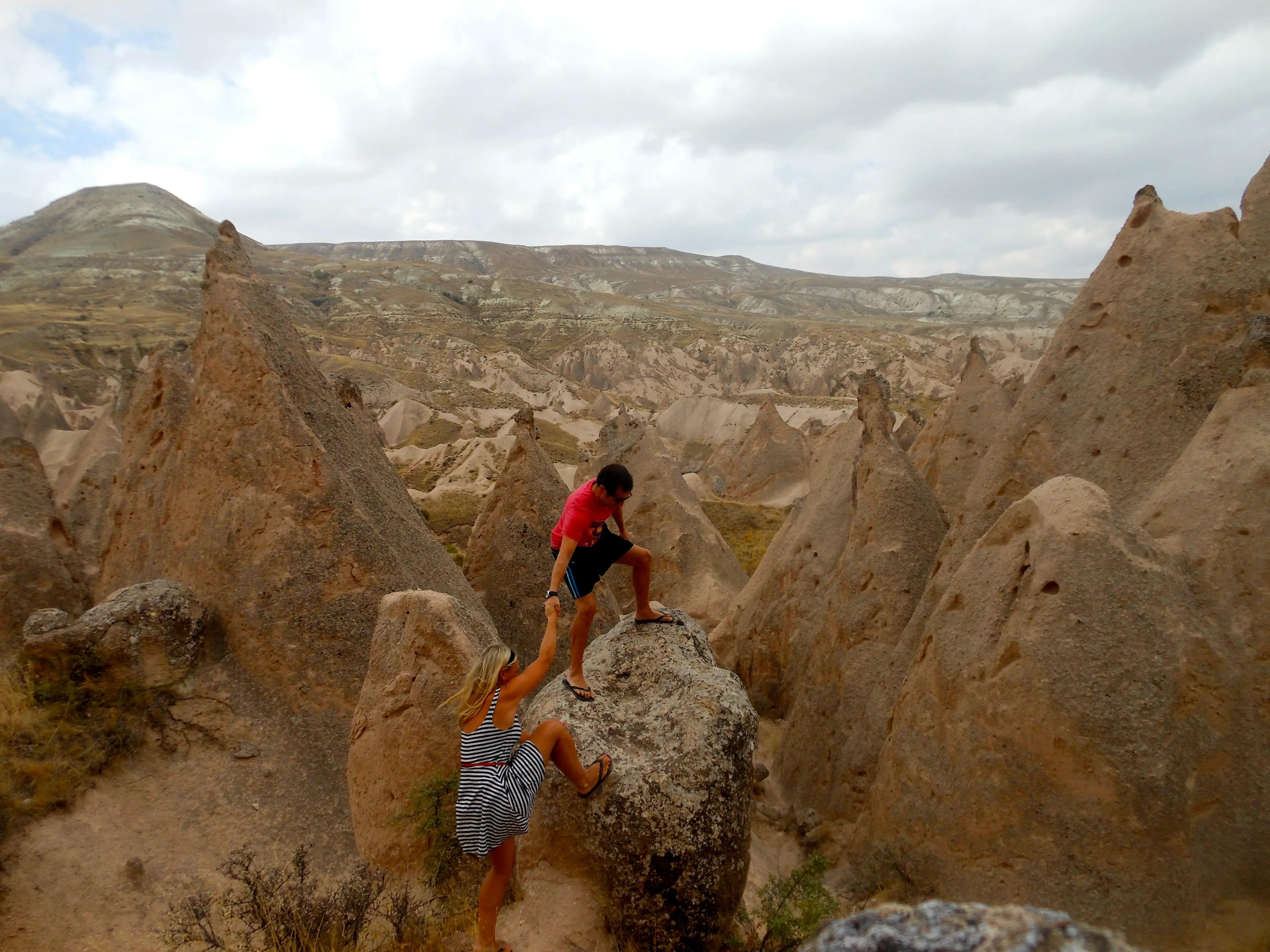 climbing in cappadocia