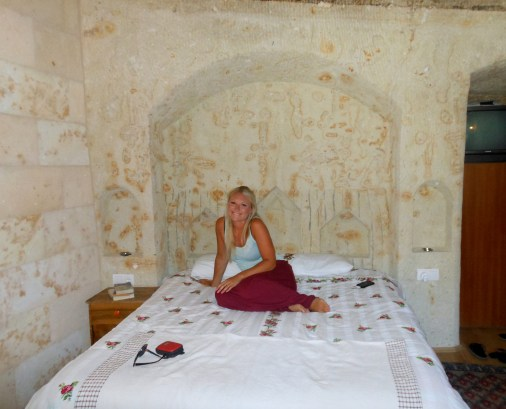 Staying in an old cave monastery in Cappadoccia