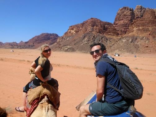 Camel ride in Wadi Rum