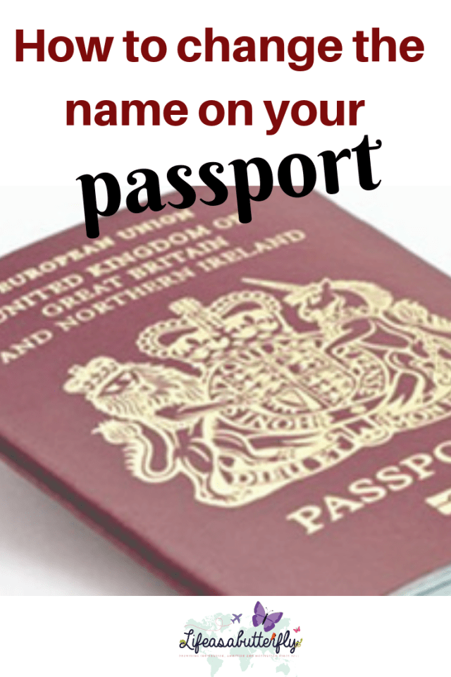 How to change your name on your passport