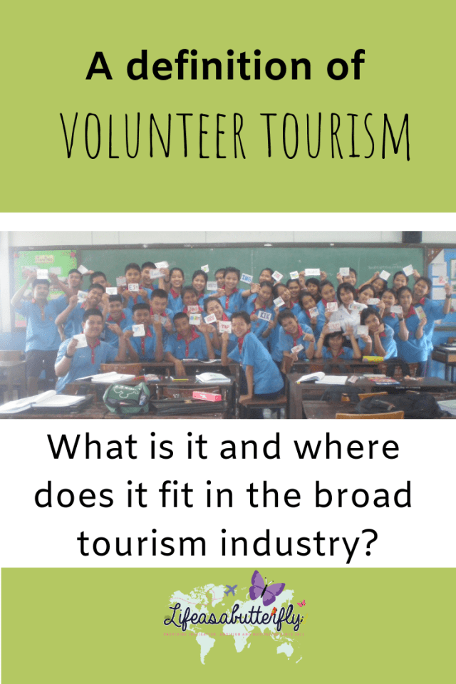 A definition of volunteer tourism