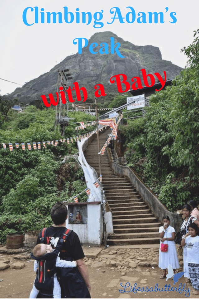 Adam's Peak with a baby