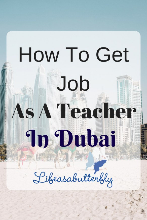 How to get Job as a Teacher in Dubai