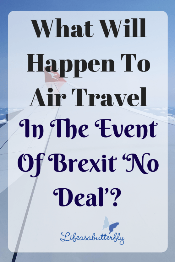 What will happen to air travel in the event of Brexit 'no deal'?