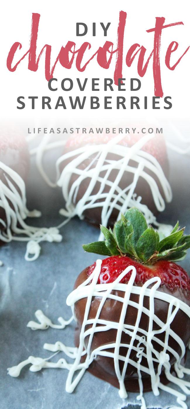 Easy Tuxedo Chocolate Covered Strawberries - Make these easy chocolate dipped strawberries with just a few ingredients! Vegetarian.