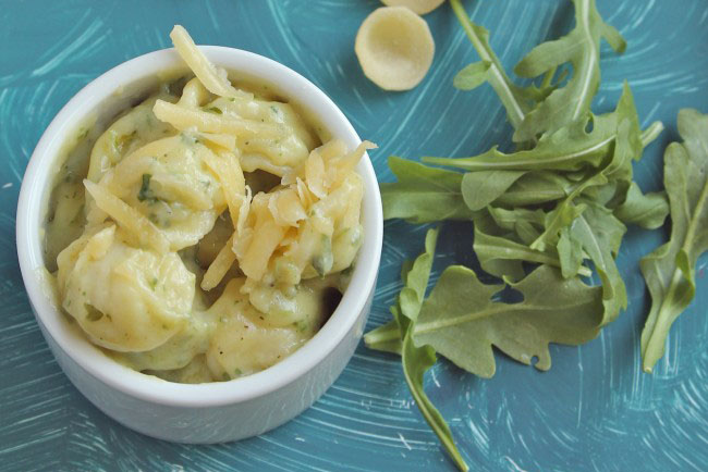 arugula pesto mac and cheese