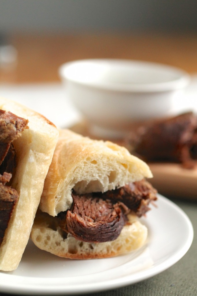Boozy Slow-Cooker French Dips