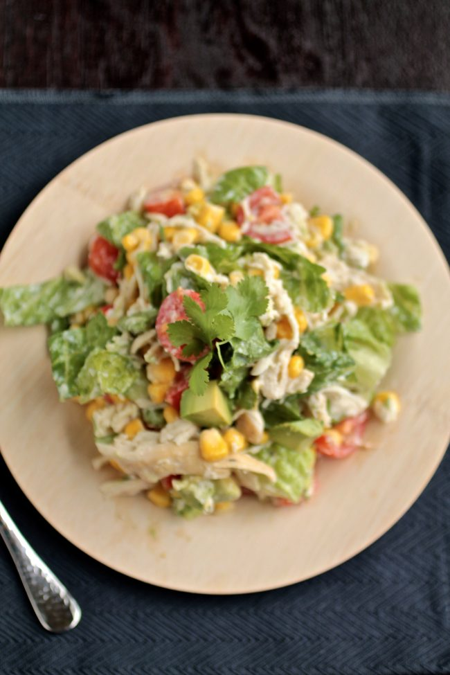 Cilantro Chicken Chopped Salad   This easy, healthy chicken salad recipe is full of protein and vegetables! A quick and simple meal for busy weeknights.