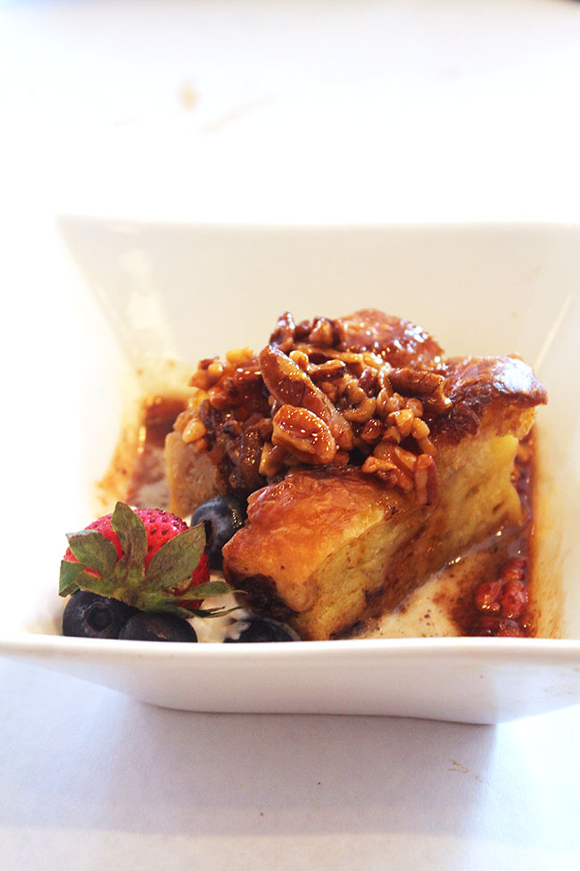 Bread Pudding at Maison Dupuy