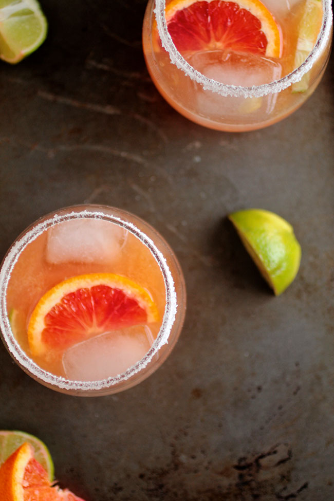 An easy blood orange margarita recipe - easy to make and perfect for entertaining!