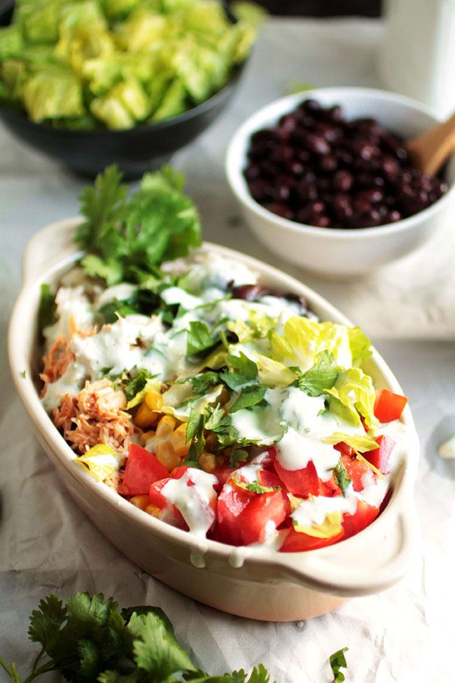 Salsa Chicken Burrito Bowls