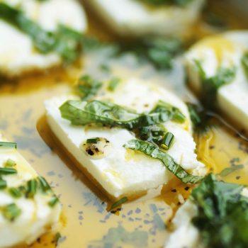 Herb marinated goat cheese recipe