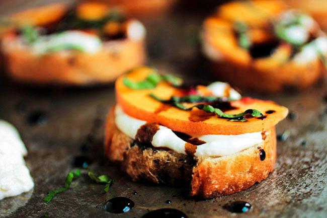 Peach Bruschetta Appetizer Recipe