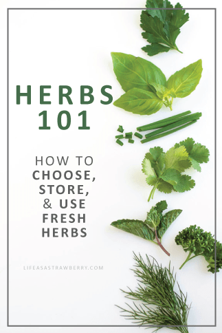 Herbs 101: how to choose, store, and use fresh herbs.