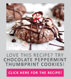 Chocolate Peppermint Thumbprint Christmas Cookies