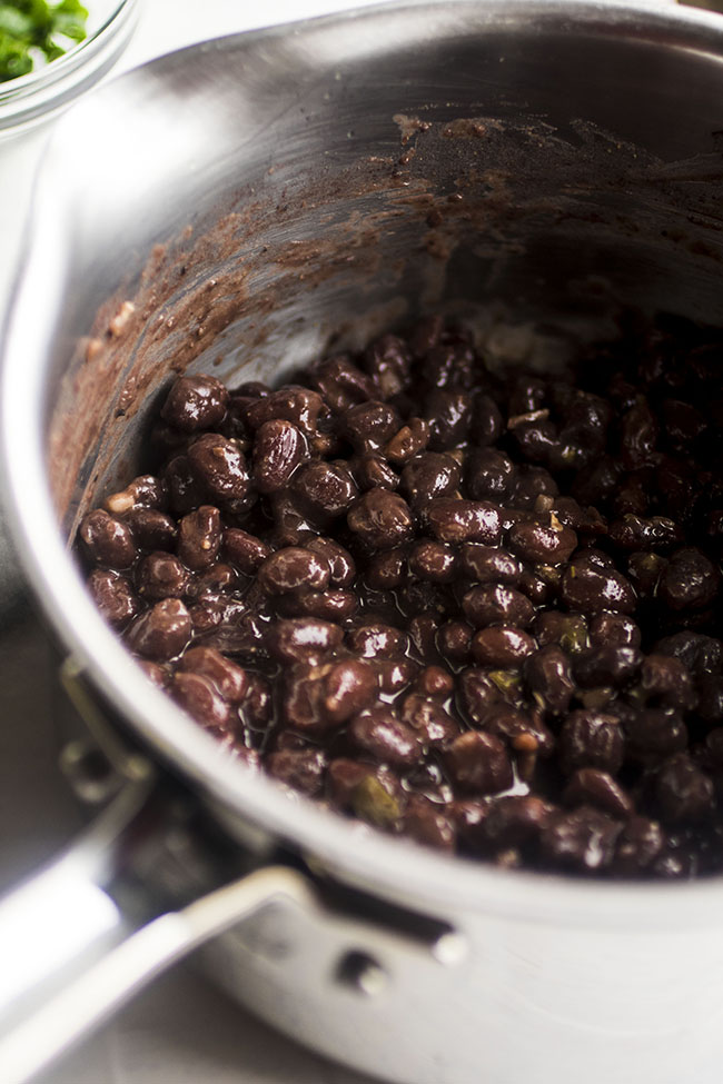 pot of black beans