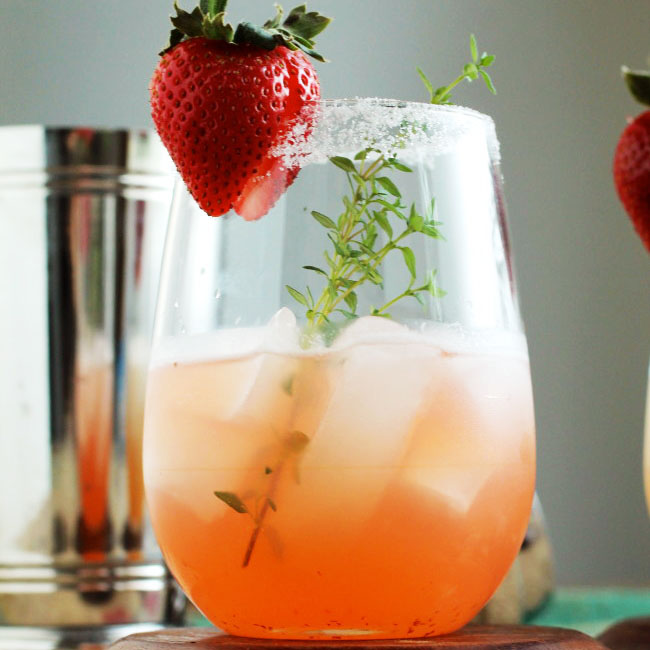 Strawberry Thyme Margaritas