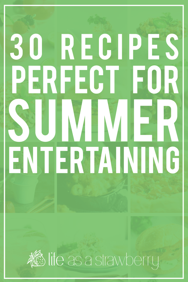 30 delicious and easy-to-make recipes perfect for 4th of July, summer barbecues, potlucks, and more! Drinks, appetizers, grilling recipes, burgers, and desserts all in one easy list, with recipes that can easily be made ahead of time! Make-ahead summer recipes.