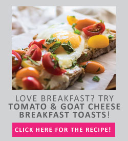 tomato and goat cheese breakfast toasts