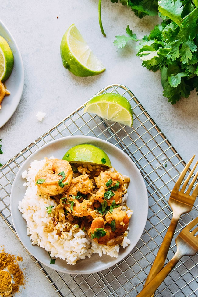 weeknight curry shrimp recipe