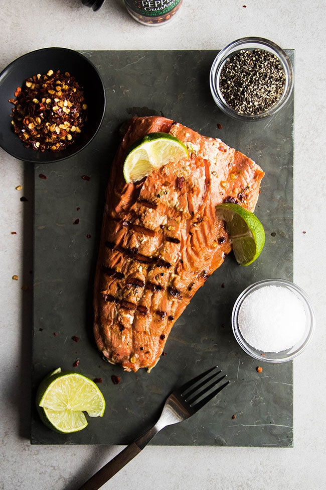 Easy Spicy Lime Grilled Salmon