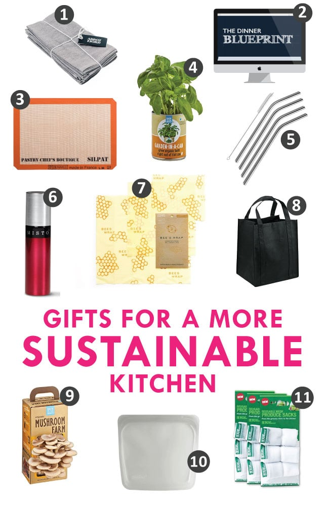 eco-friendly gifts, environmentally friendly gifts, sustainable kitchen gifts