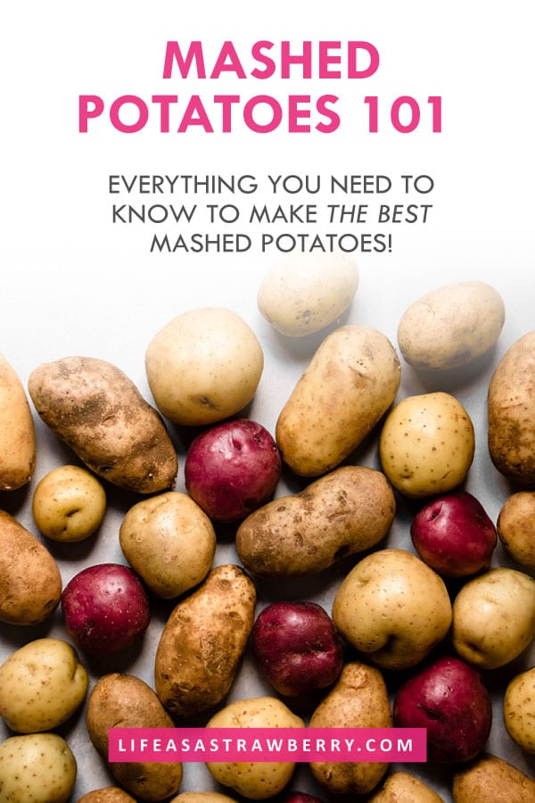 graphic with a photo of potatoes on a white background under grey text
