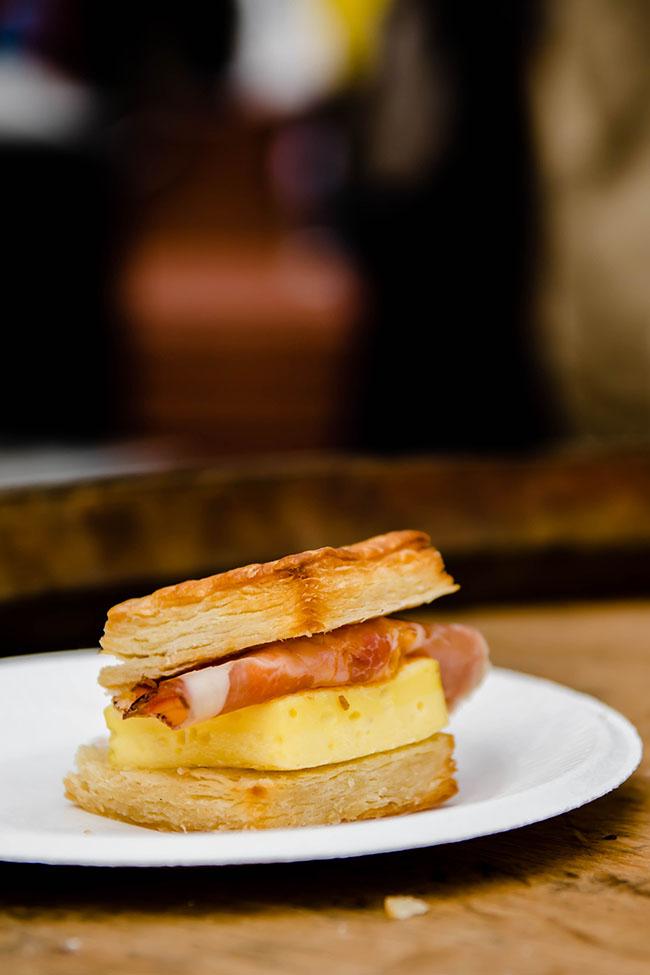 Breakfast sandwich from junebaby at feast portland.