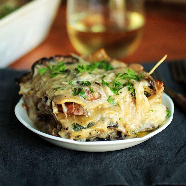 Mushroom Spinach Lasagna.