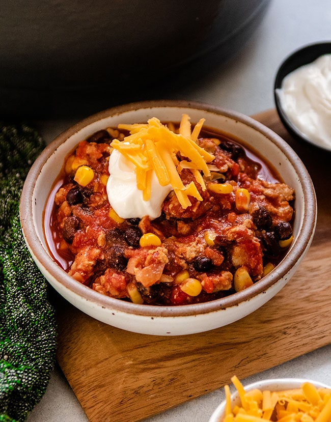 , Turkey, Corn, and Black Bean Chili