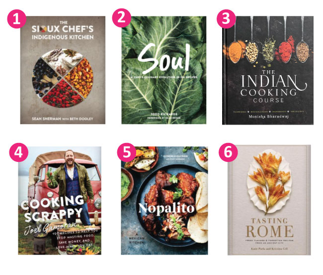 Collage with images of various cookbook covers