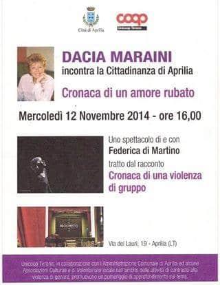 Dacia Maraini incontra la cittadinanza di Aprilia