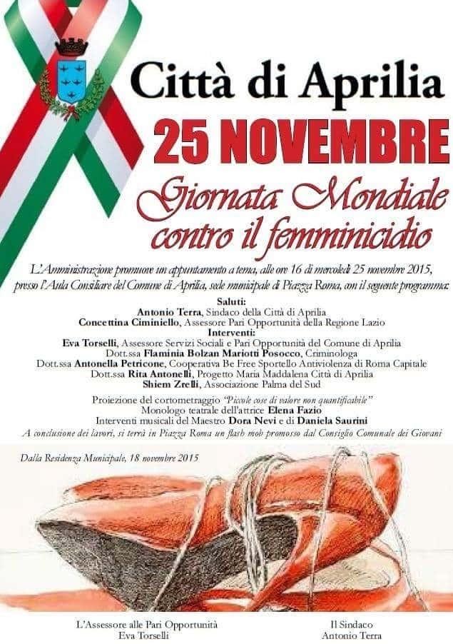 Giornata Mondiale contro il femminicidio 2015