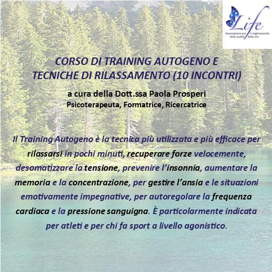 Corso di Training Autogeno e Tecniche di Rilassamento