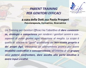 Parent Training per Genitori Efficaci