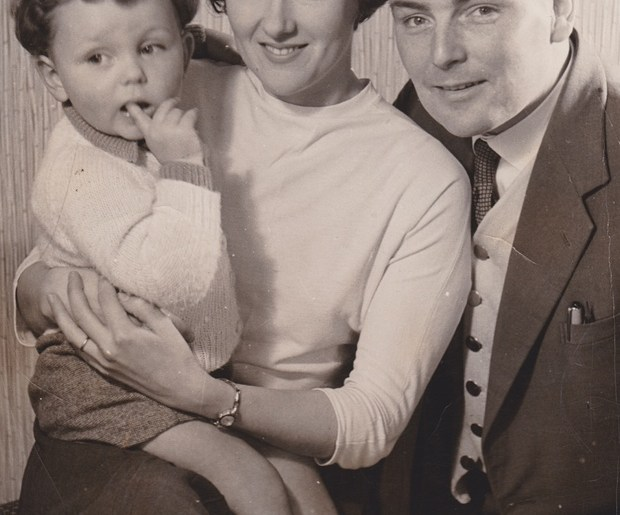 Russel Graham with his parents.