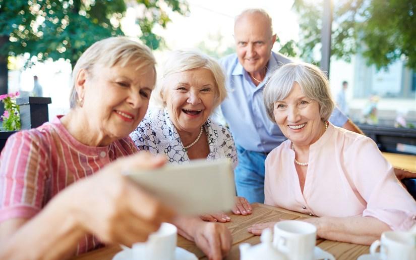 Selfie snapping seniors
