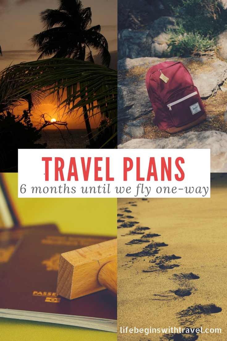 Pinterest Image - Pin this - Travel Plans 6 months until we leave