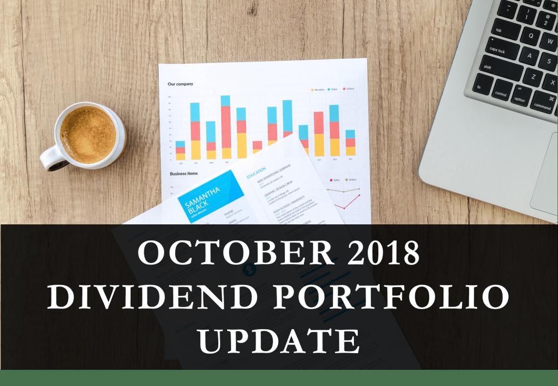 October 2018 – FIRE Dividend Portfolio Update (Financial