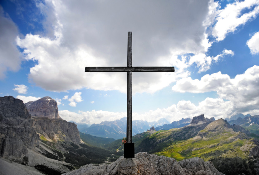 Mountain of God with Cross