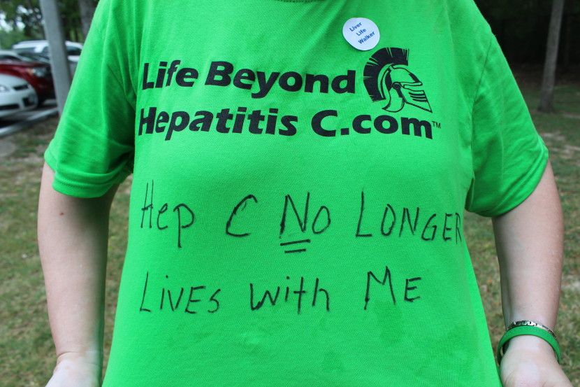"Hep C Warrior Connie's Shirt.   ""It was a long journey. I'm here.  Praise God! """