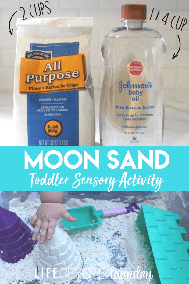 How To Make Moon Sand- A Toddler Sensory Activity